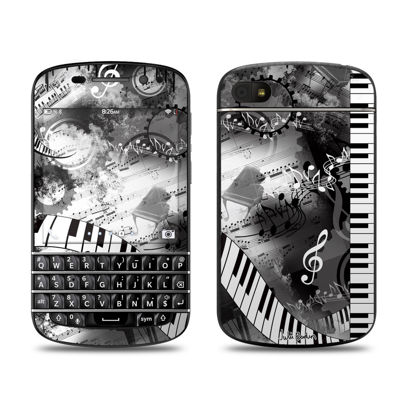 Piano Pizazz BlackBerry Q10 Skin