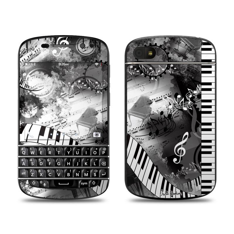 Piano Pizazz BlackBerry Q10 Skin