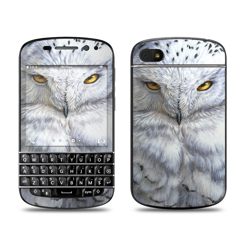 Snowy Owl BlackBerry Q10 Skin