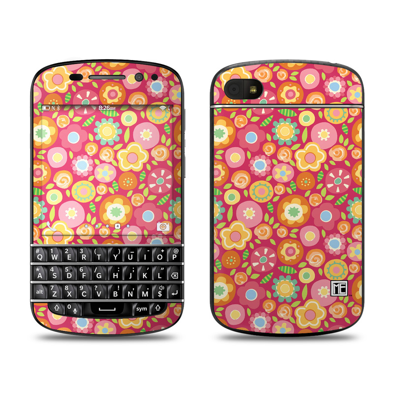 Flowers Squished BlackBerry Q10 Skin