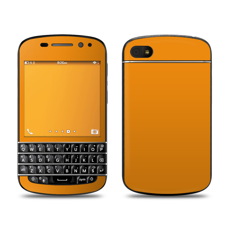 Solid State Orange BlackBerry Q10 Skin
