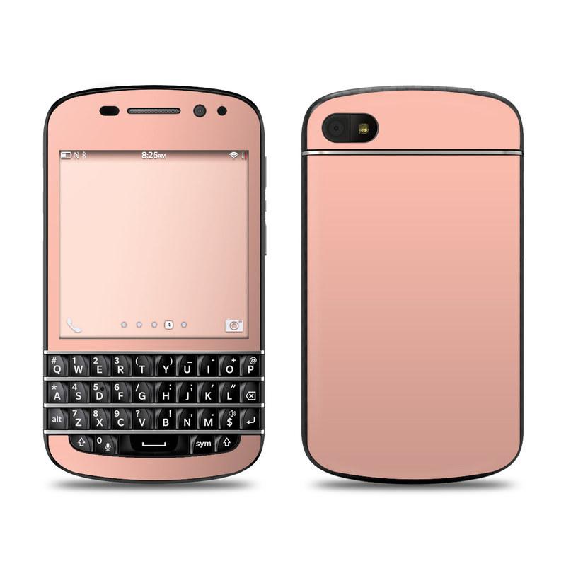 Solid State Peach BlackBerry Q10 Skin