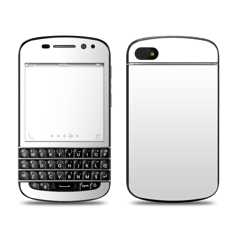 BlackBerry Q10 Skin design of White, Black, Line with white colors