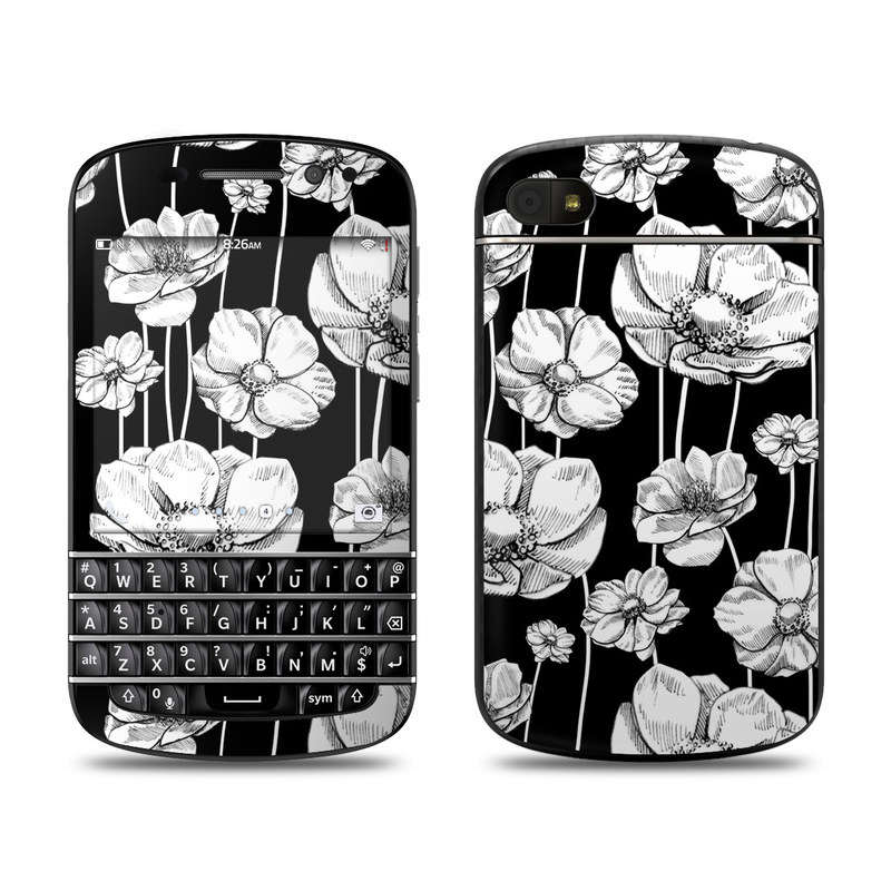 Striped Blooms BlackBerry Q10 Skin