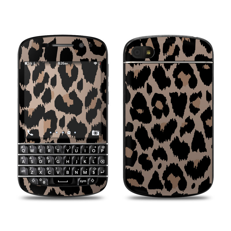BlackBerry Q10 Skin design of Pattern, Brown, Fur, Design, Textile, Monochrome, Fawn with black, gray, red, green colors