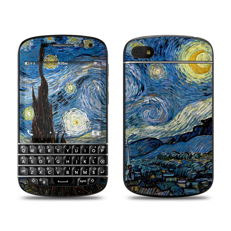 Starry Night BlackBerry Q10 Skin