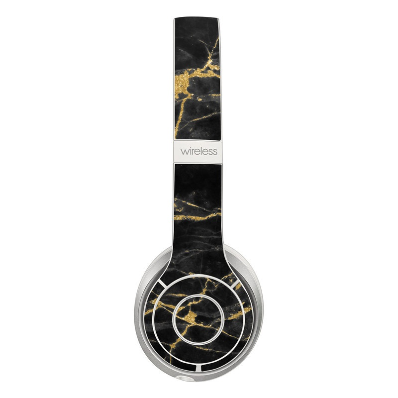Beats Solo 2 Wireless Skin design of Black, Yellow, Water, Brown, Branch, Leaf, Rock, Tree, Marble, Sky with black, yellow colors
