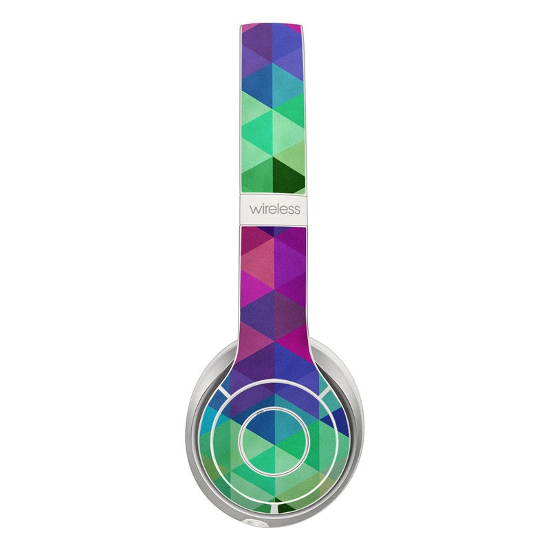 Beats Solo 2 Wireless Skin design of Purple, Violet, Pattern, Blue, Magenta, Triangle, Line, Design, Graphic design, Symmetry with blue, purple, green, red, pink colors