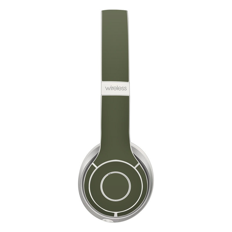 Beats Solo 2 Wireless Skin design of Green, Brown, Text, Yellow, Grass, Font, Pattern, Beige with green colors