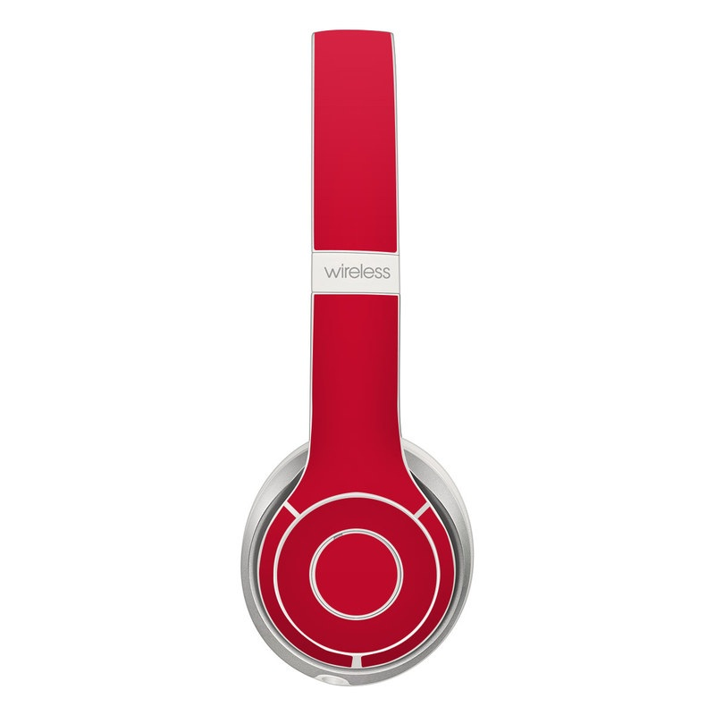Solid State Red Beats Solo 2 Wireless Skin