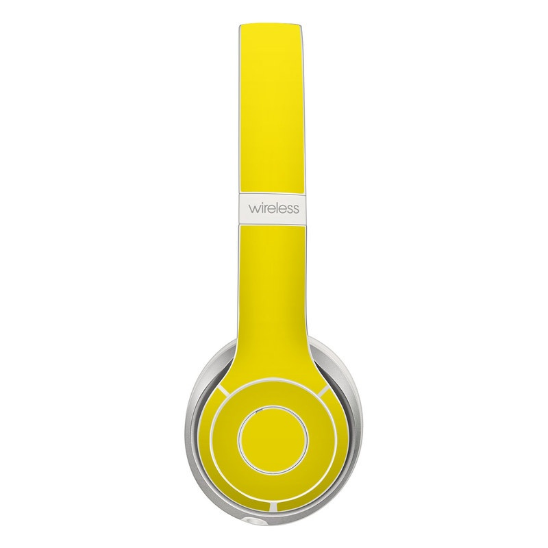 Beats Solo 2 Wireless Skin design of Green, Yellow, Orange, Text, Font with yellow colors