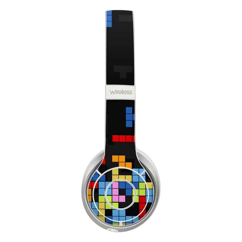 Beats Solo 2 Wireless Skin design of Pattern, Symmetry, Font, Design, Graphic design, Line, Colorfulness, Magenta, Square, Graphics with black, green, blue, orange, red colors