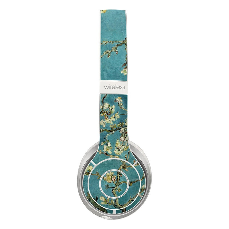 Beats Solo 2 Wireless Skin design of Tree, Branch, Plant, Flower, Blossom, Spring, Woody plant, Perennial plant with blue, black, gray, green colors