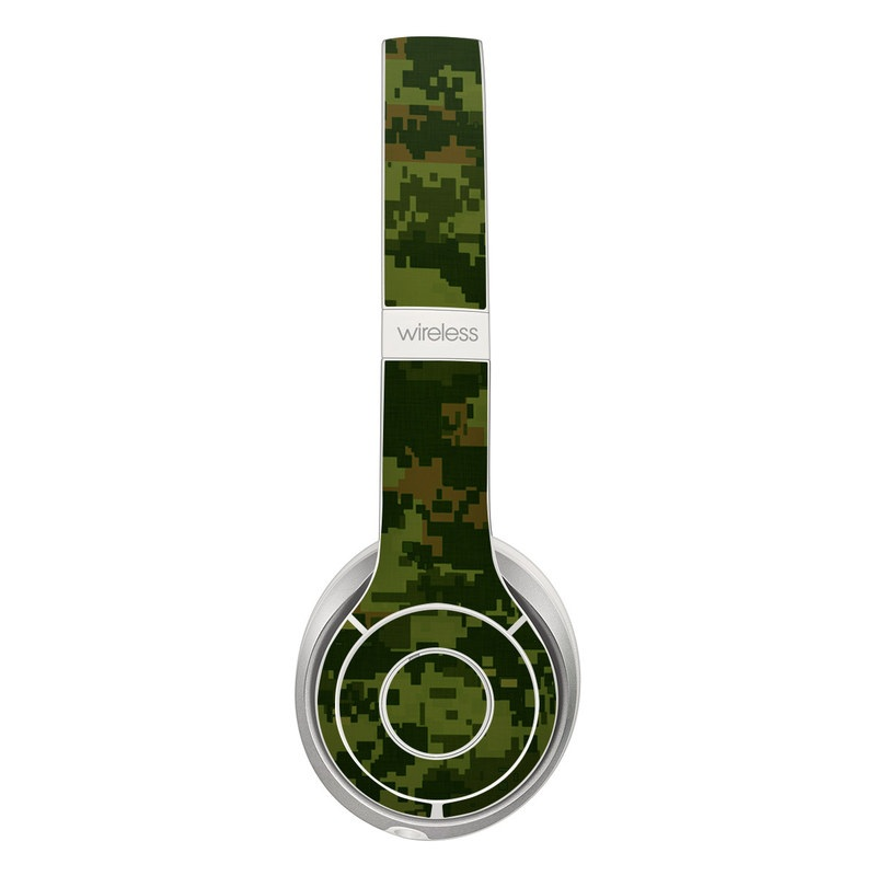 Beats Solo 3 Wireless Skin design of Military camouflage, Green, Pattern, Uniform, Camouflage, Clothing, Design, Leaf, Plant with green, brown colors