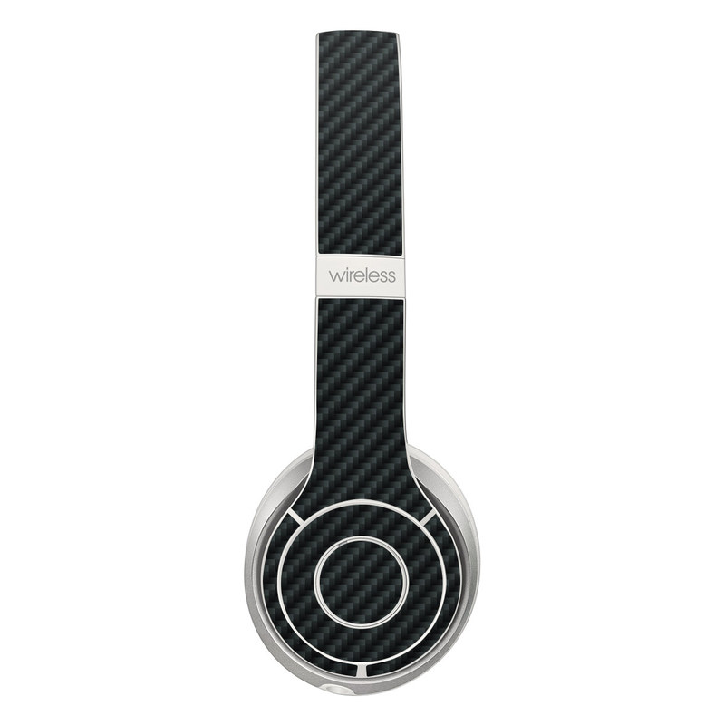 Beats Solo 3 Wireless Skin design of Green, Black, Blue, Pattern, Turquoise, Carbon, Textile, Metal, Mesh, Woven fabric with black colors