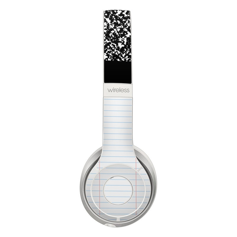 Beats Solo 3 Wireless Skin design of Text, Font, Line, Pattern, Black-and-white, Illustration with black, gray, white colors