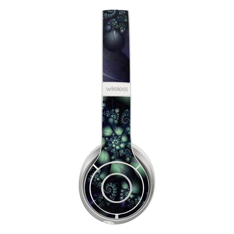 Beats Solo 3 Wireless Skin design of Fractal art, Blue, Purple, Graphic design, Art, Design, Pattern, Organism, Plant, Graphics with black, gray, blue, green colors