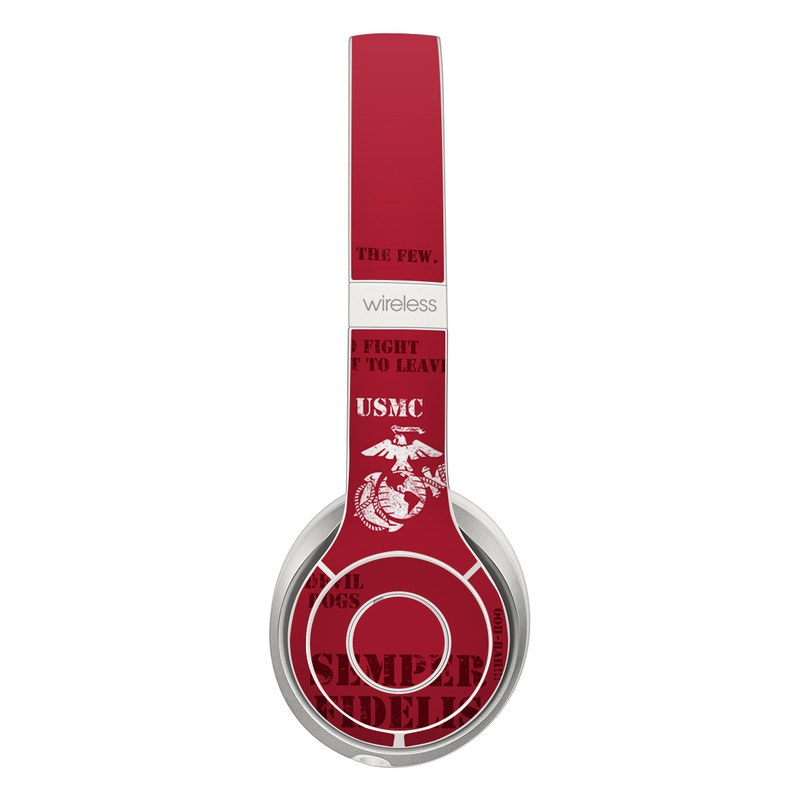 Beats Solo 3 Wireless Skin design of Font, Text, Logo, T-shirt, Poster, Graphics, Brand, Banner with red, gray, white, black, pink colors