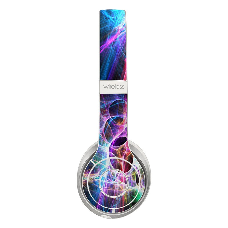 Beats Solo 3 Wireless Skin design of Fractal art, Light, Pattern, Purple, Graphic design, Design, Colorfulness, Electric blue, Art, Neon with black, gray, blue, purple colors