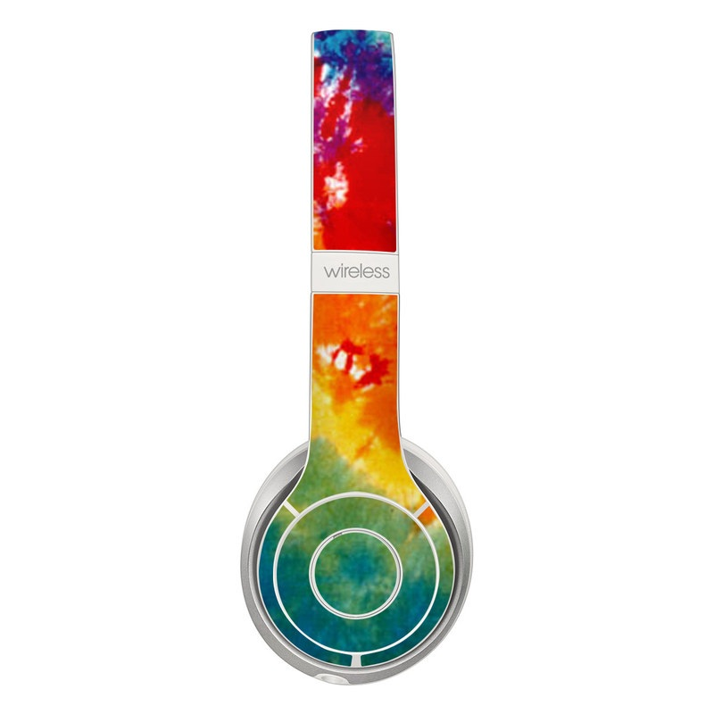 Beats Solo 3 Wireless Skin design of Orange, Watercolor paint, Sky, Dye, Acrylic paint, Colorfulness, Geological phenomenon, Art, Painting, Organism with red, orange, blue, green, yellow, purple colors