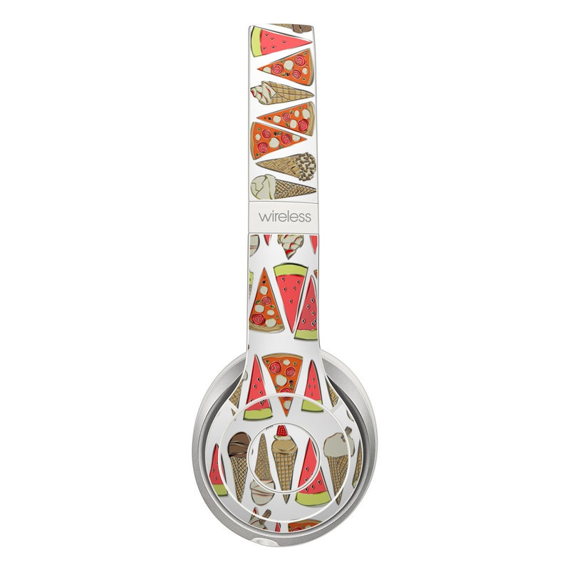 Beats Solo 3 Wireless Skin design of Orange, Pattern, Line, Font, Design, Triangle, Visual arts, Clip art with gray, white, green, red colors