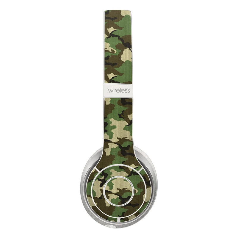 Beats Solo 3 Wireless Skin design of Military camouflage, Camouflage, Clothing, Pattern, Green, Uniform, Military uniform, Design, Sportswear, Plane with black, gray, green colors