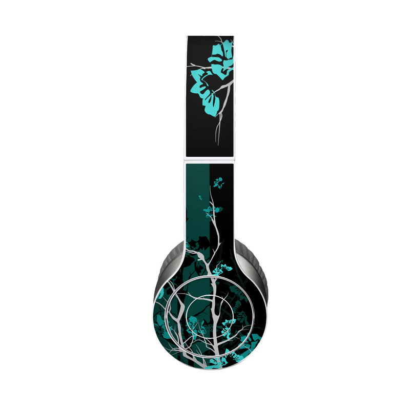 Beats Solo HD Skin design of Branch, Black, Blue, Green, Turquoise, Teal, Tree, Plant, Graphic design, Twig with black, blue, gray colors