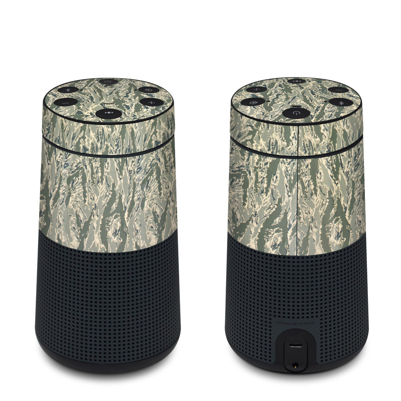 Bose SoundLink Revolve Skin design of Pattern, Grass, Plant with gray, green colors