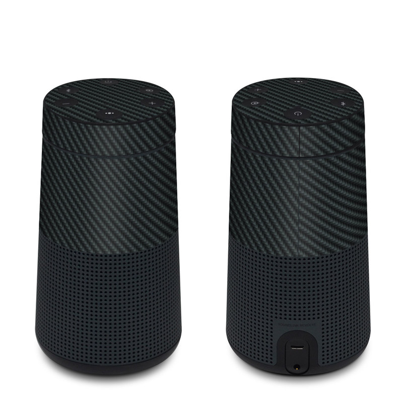 Bose SoundLink Revolve Skin design of Green, Black, Blue, Pattern, Turquoise, Carbon, Textile, Metal, Mesh, Woven fabric with black colors