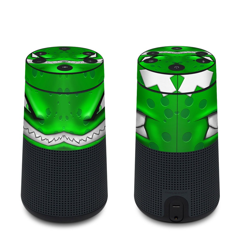Bose SoundLink Revolve Skin design of Green, Font, Animation, Logo, Graphics, Games with green, white colors