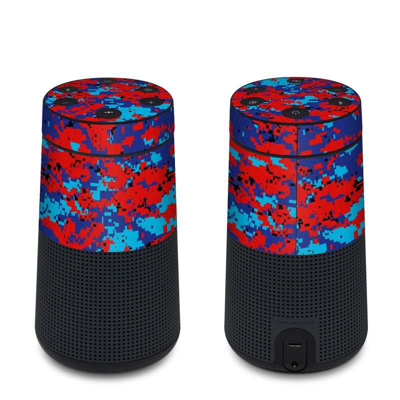 Bose SoundLink Revolve Skin design of Blue, Red, Pattern, Textile, Electric blue with blue, red colors