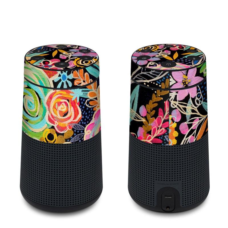 Bose SoundLink Revolve Skin design of Pattern, Floral design, Design, Textile, Visual arts, Art, Graphic design, Psychedelic art, Plant with black, gray, green, red, blue colors