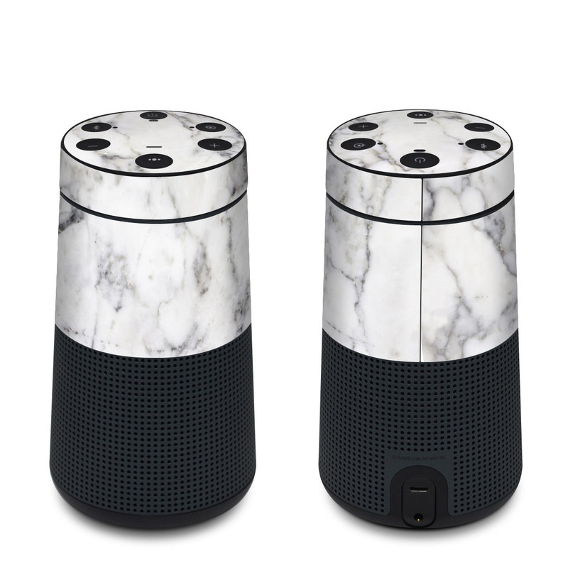 Bose SoundLink Revolve Skin design of White, Geological phenomenon, Marble, Black-and-white, Freezing with white, black, gray colors