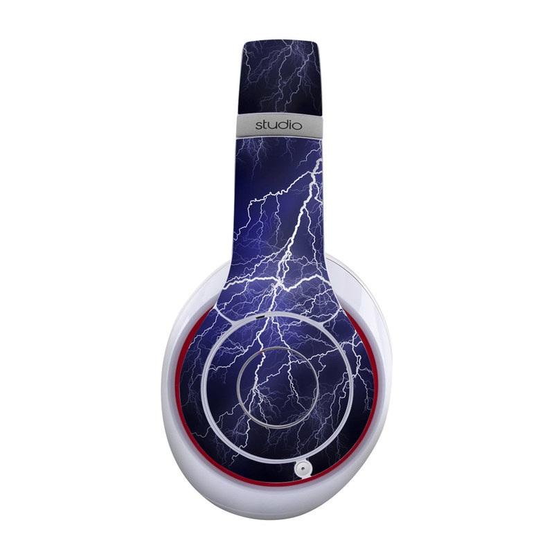 Beats Studio Wireless Skin design of Thunder, Lightning, Thunderstorm, Sky, Nature, Electric blue, Atmosphere, Daytime, Blue, Atmospheric phenomenon with blue, black, white colors