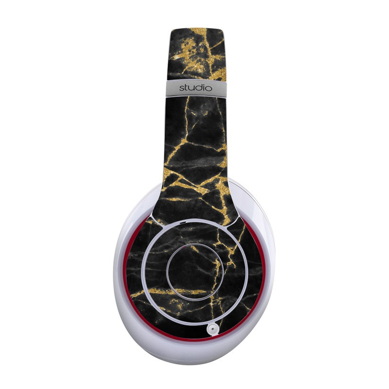 Black Gold Marble Beats Studio Wireless Skin