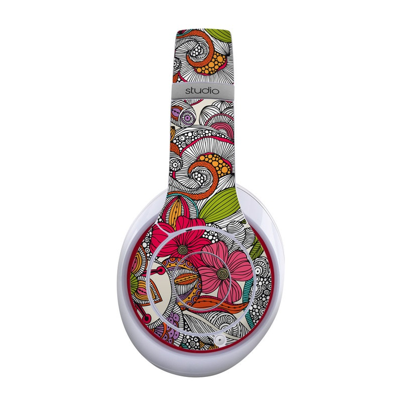 Beats Studio Wireless Skin design of Pattern, Drawing, Visual arts, Art, Design, Doodle, Floral design, Motif, Illustration, Textile with gray, red, black, green, purple, blue colors