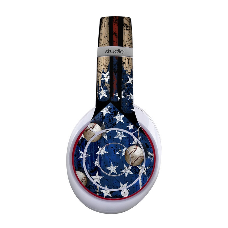 Beats Studio Wireless Skin design of Baseball bat, Baseball equipment with black, red, gray, green, blue colors