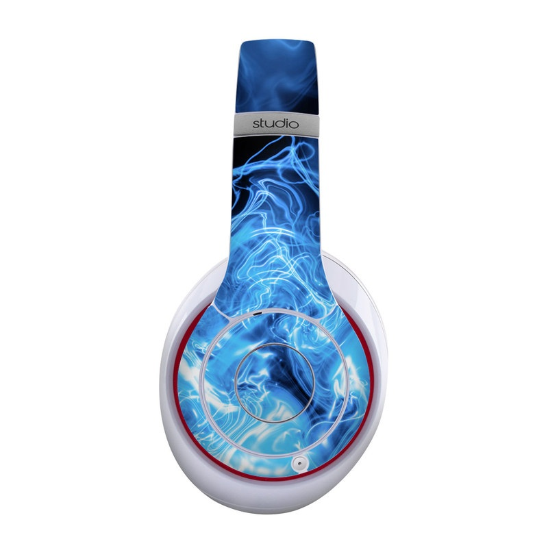 Beats Studio Wireless Skin design of Blue, Water, Electric blue, Organism, Pattern, Smoke, Liquid, Art with blue, black, purple colors