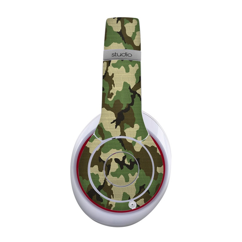 Beats Studio Wireless Skin design of Military camouflage, Camouflage, Clothing, Pattern, Green, Uniform, Military uniform, Design, Sportswear, Plane with black, gray, green colors