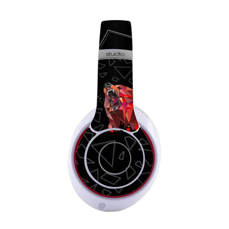 Beats Studio3 Wireless Skin design of Graphic design, Triangle, Font, Illustration, Design, Art, Visual arts, Graphics, Pattern, Space with black, red colors