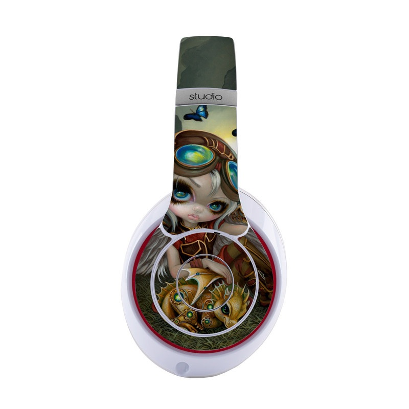 Beats Studio3 Wireless Skin design of Cg artwork, Illustration, Fictional character, Art, Mythology, Games, Massively multiplayer online role-playing game with black, green, red, yellow, brown, blue colors