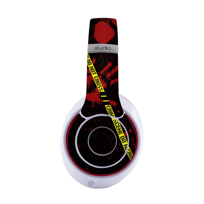 Beats Studio3 Wireless Skin design of Red, Black, Font, Text, Logo, Graphics, Graphic design, Room, Carmine, Fictional character with black, red, green colors