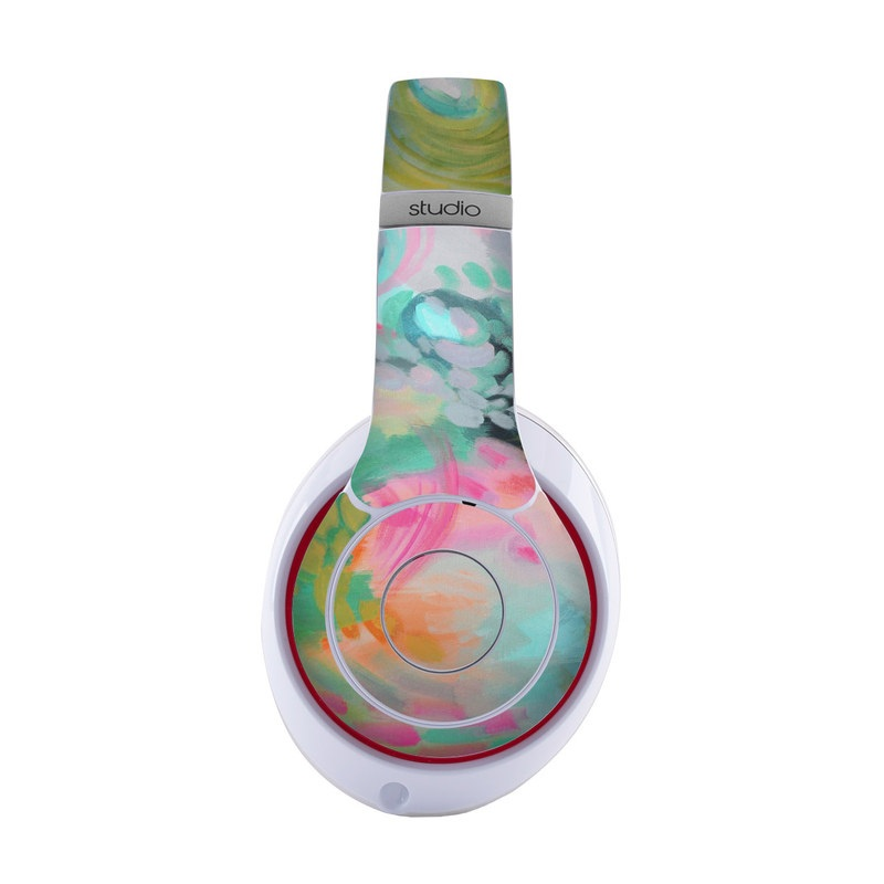 Beats Studio3 Wireless Skin design of Painting, Acrylic paint, Modern art, Art, Pink, Visual arts, Watercolor paint, Pattern, Illustration, Paint with blue, pink, orange, yellow, green, purple colors