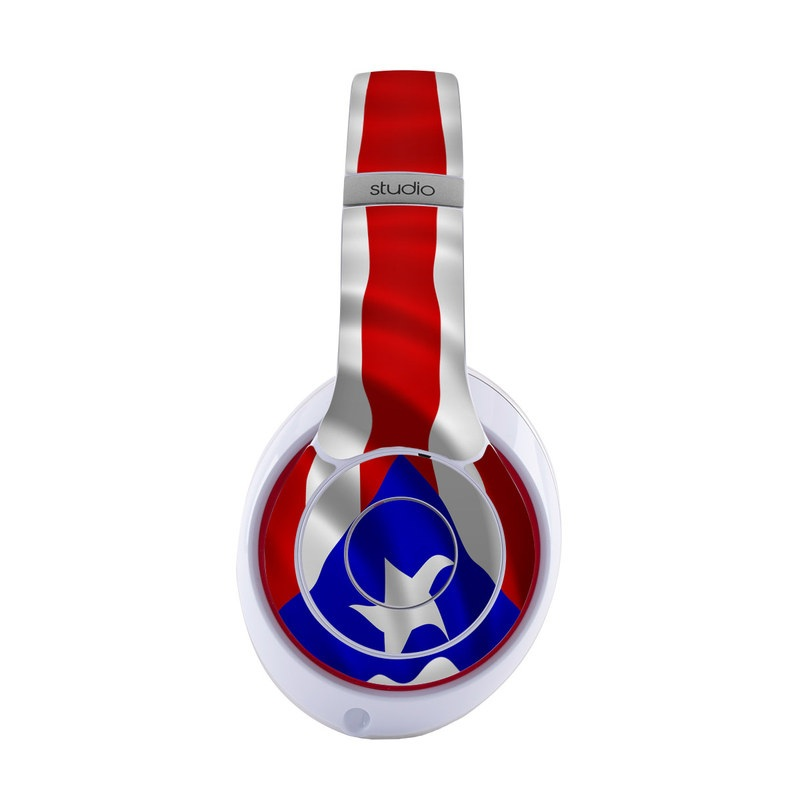 Beats Studio3 Wireless Skin design of Flag, Flag of the united states, Flag Day (USA), Veterans day, Independence day with red, blue, white colors