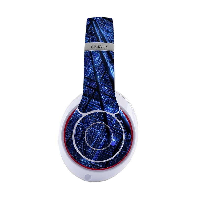 Beats Studio3 Wireless Skin design of Blue, Light, Electric blue, Pattern, Sky, Atmosphere, Line, Design, Textile, Space with black, blue colors