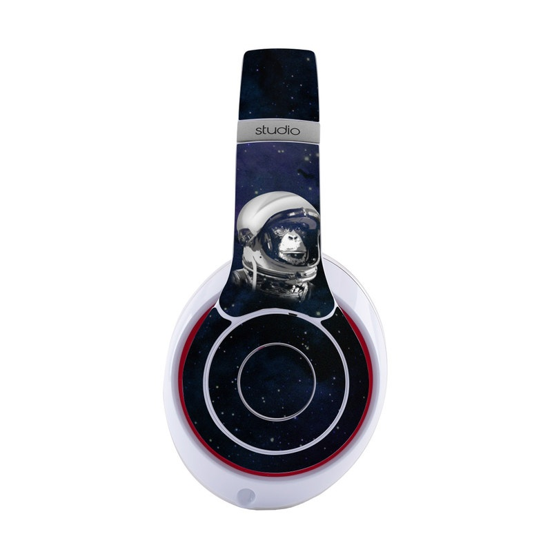 Beats Studio3 Wireless Skin design of Helmet, Astronaut, Personal protective equipment, Illustration, Space, Outer space, Headgear, Fictional character, Sports gear, Football gear with black, gray, blue, white colors