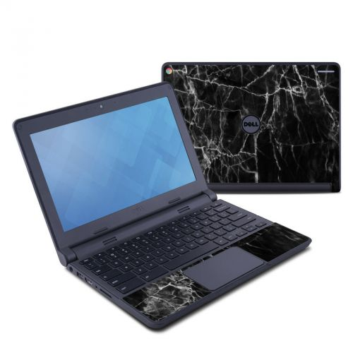 Black Marble Dell Chromebook 11 Skin