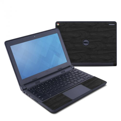 Black Woodgrain Dell Chromebook 11 Skin