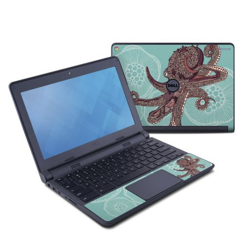 Octopus Bloom Dell Chromebook 11 Skin