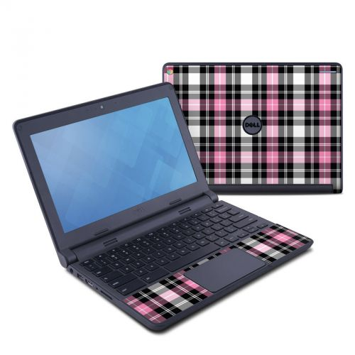 Pink Plaid Dell Chromebook 11 Skin